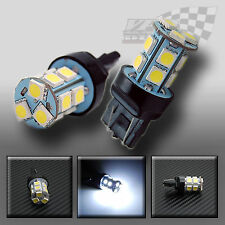 1 x T20 W21/5W 580 7443 13 SMD WEDGE FIT WHITE STOP AND TAIL LIGHT BULB