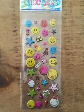 Smiley Face Puffy Stickers-scrapbooking-card making-5 For 4!!
