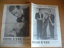 FLYER CINEMA CENTRALE CHIASSO FILM GIGLIO D'ORO CLAUDETTE COLBERT F. MAC MURRAY