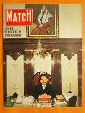 Paris Match 423 du 18/5/1957-Chez Hussein au-dessus du roi de Jordanie