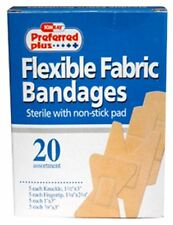 Bandages Flexible Fabric with Non-Stick Pads, Assorted 20 ea (Pack of 3)