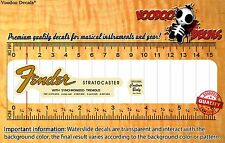 Fender Stratocaster 1965-66 (Vintage Look) Headstock Restoration Waterslide Deca