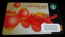 Collectible Gift Card Starbucks Coffee Food Happy Chinese New Year No Value 2011