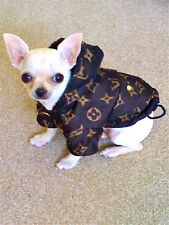 Brown Dog Coat Jacket Extra Small XS Toy Dog