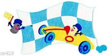 "7.5"" BLUES CLUES NICK JR RACE CAR TOOLS CHARACTER FABRIC APPLIQUE IRON ON"