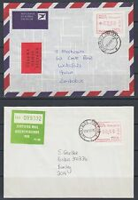 South Africa, 1986 covers with FRAMA labels and Etiquettes, Air Mail to Zimbabwe