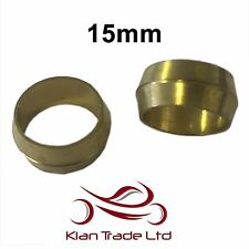 15mm - 10PCS BRASS COMPRESSION OLIVES PLUMBING FITTINGS ADAPTER
