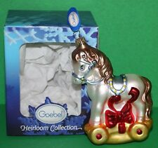 """Goebel Toy Pony Rocking Horse Heirloom Mouth Blown Glass Ornament 5.5"""""""