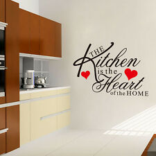 Chic Kitchen Home Heart Flexible Vinyl Wall Stickers Decor Art Quote Decals