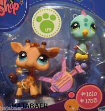 ☆ Littlest Pet Shop ☆ GIRAFFE #1610 & VOGEL KOLIBRI  #1703 ♥☆ NEU OVP RAR