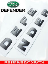 DEFENDER GREY 3D BONNET LETTERING LAND ROVER 90 110 LETTERS BADGE FRONT