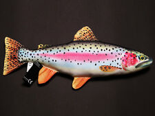 RAINBOW TROUT SOFT TOY PILLOW FOR SIMMS WADERS JACKET ORVIS SAGE ROD REEL USERS