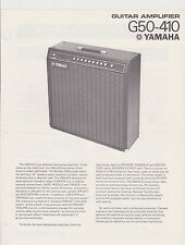 1970s AD SHEET #2775 - YAMAHA G50-410  GUITAR AMPLIFIER