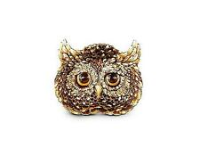 JAY STRONGWATER FLETCHER OWL TRINKET TRAY NATURAL COLOR SWAROVSKI NEW BOX USA