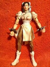 "CHUN-LI white Street Fighter Capcom vs SNK exclusive 2 Pack*LOOSE mint 7"" figure"