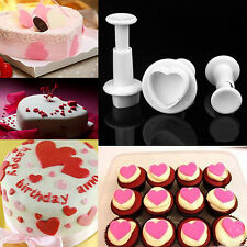 3tlg. Ausstecherform Mini Herz Form Fondant Baking Tortendeko Kuchen Mould