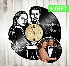 Personalized vinyl record wall clock custom order design clock custom wall clock