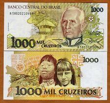 Brazil, 1000 cruzeiros, ND (1990), P-231b, UNC   Native Children