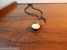HANDMADE ASIAN MOTHER OF PEARL OR SHELL SNUFF/PERFUME BOTTLE NECKLACE INTERNATL