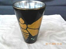 BREAKING BAD METALLIC MOTH, BLACK, JUST FUNKY, 1 PINT CAPACITY DRINKING GLASS.