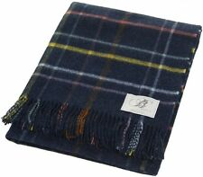 BRAND NEW BRONTE BY MOON MULTI WINDOWPANE LAMBSWOOL CHECK THROW COLOUR DENIM