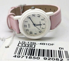 Casio Classic Ladies Analogue Watch Pink Leather Band LQ-139L-4B1 NEW