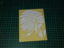 "6"" Reflective Indian Chief Apache Head Logo USDM Style Vinyl Decal Sticker"