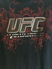 UFC Ultimate Fighting Championship T-Shirt Size Large Boxing Wrestling Kickbox