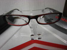 UMBRO  EYEGLASSES FRAME U131  RED  50-15-135  DEMO   WITH CASE AUTHENTIC