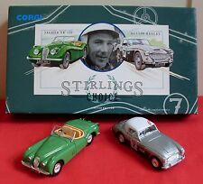 RARE! JAGUAR XK120 & AUSTIN-HEALEY L.E. 'Stirling's Choice' Set by Corgi (1991)