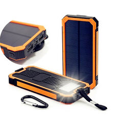 100000mah Solar Power Bank Dual USB Portable External Battery Charger For Mobile