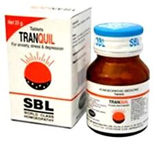 2 SBL Homeopathy Tranquil Tablets 25g Sleeplessness anxiety stress tension relax