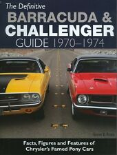 1970 71 72 73 74 BARRACUDA & CHALLENGER GUIDE-FACTS, FIGURES & FEATURES