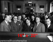 """Al Capone~Gangster~Courtroom~Attorney~Photo~Lawyer~ Poster 16"""" x  20"""""""