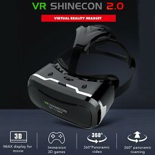 VR SHINECON 2.0 Virtual Reality 3D Movie Game Glasses Headset For Samsung iPhone