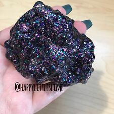 Black Galaxy Glitter Fishbowl Slime - Scented Crunchy Floam
