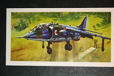 RAF Hawker Siddeley Harrier Jet       Illustrated  Card  VGC
