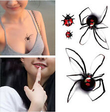 HOT Temporary Tattoo Waterproof Removable 3D spider Stickers Body Art Tattoos
