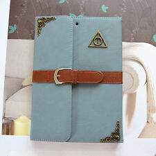 SALE! Harry potter deathly hallow crest blue Leather ipad mini 1/2/3 Case cover