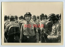 WWII ORIGINAL GERMAN PHOTO EARLY ELITE DIVISION Motor Corps CREW MEETING PARADE