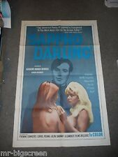 SAPPHO DARLING - ORIGINAL FOLDED POSTER - 1968 - YVONNE D'ANGERS/CAROL YOUNG