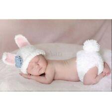 Bébé Nouveau-né Photographie Photo Prop Chapeau Costume Tricot Déguisement Lapin