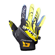 Touch Screen Friendly Full Finger Gloves Mountain Bike Cycling for Woman Yellow