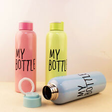 New 3 Color 650ML My Bottle Water Bottle Stainless Steel Vacuum Flasks Thermos