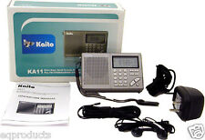 New Kaito AM/FM Stereo SW Alarm Clock Radio with 100 Memory Presets! Free Ship!