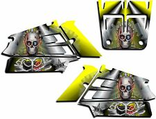 YAMAHA BANSHEE GRAPHICS WRAP DECAL STICKER KIT TURBO CHARGED SHROUDS YELLOW