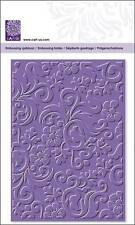 Embossing Folder CartUs All Cuttlebug Sizzix Big-Shot Machine Ornate Flowers