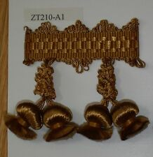 Onion Tassel Fringe Antique Gold and Coin Gold match Bullion Fringe Tassel