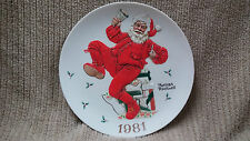 """NORMAN ROCKWELL 1981 """"RINGING IN GOOD CHEER"""" CHRISTMAS PLATE Free Shipping!!"""