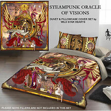 STEAMPUNK ORACLE OF VISIONS - Duvet Cover Set for DOUBLE BED artwork C Manchetti